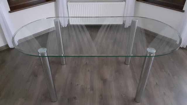 Stół szklany 185x90cm