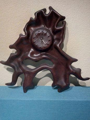 Zegar Ścienny ze Skóry Naturalnej