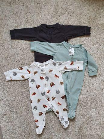 Piżama dziecięca z suwakiem 3-pak 62