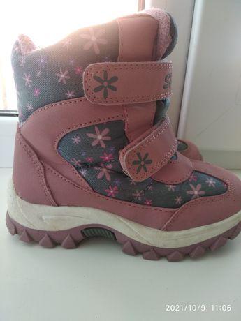 Ботинки зимние на девочку 27 размер