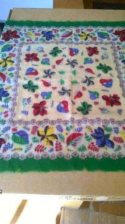 Lenço antigo de caxemira de lã