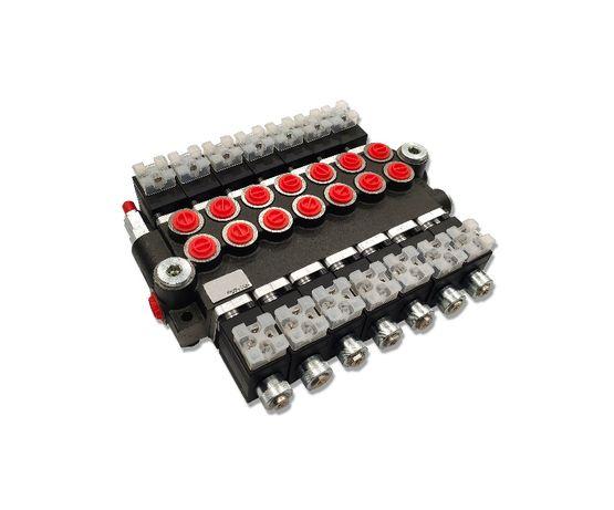 Rozdzielacz hydrauliczny 7 SEK 50L ELEKTRYCZNY 12V