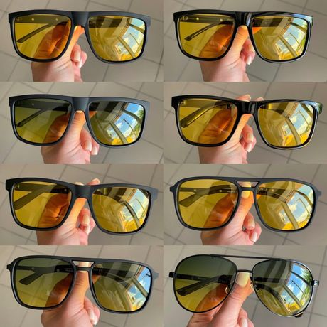 Очки водительские мужские АНТИФАРЫ для вождения желтые