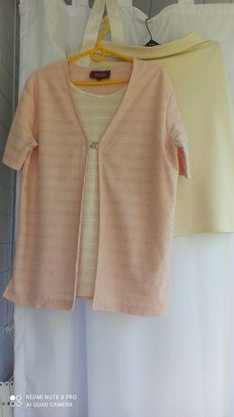 Komplet (bluzka i spódnica) rozmiar XL