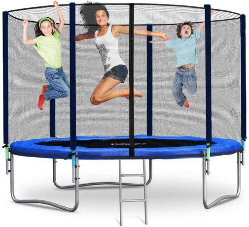 Solidna trampolina ogrodowa dla dzieci i dorosłych 180Kg stal hartowan