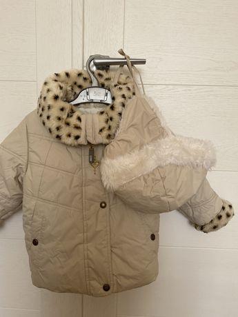 Куртка / пальто Lenne + шапка Lenne