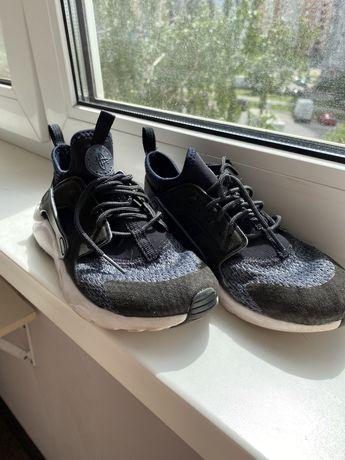 Кроссовки Nike Huarache Black White Найк Хуарачи черно-белые