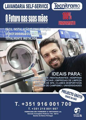Máquinas de lavar e secar roupa industrial Self-service lares