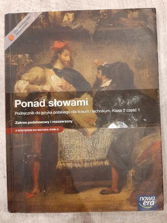 Ponad słowami podręcznik język polski klasa 2 część 1