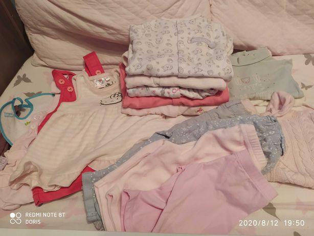 Paka ubrań dla dziewczynki 62cm F&F,Reserved 19 sztuk