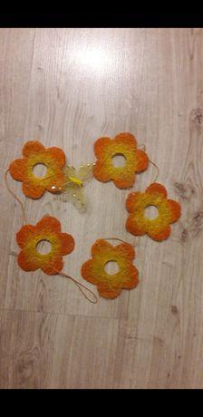 Ozdobne kwiaty z motylkiem 2 rodzaje