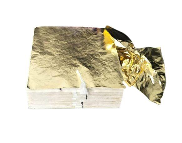 Szlagmetal Folia do złoceń 14x14 20 płatki złote