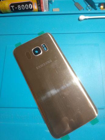 Tampa traseira Samsung S7 Edge gold(novo)