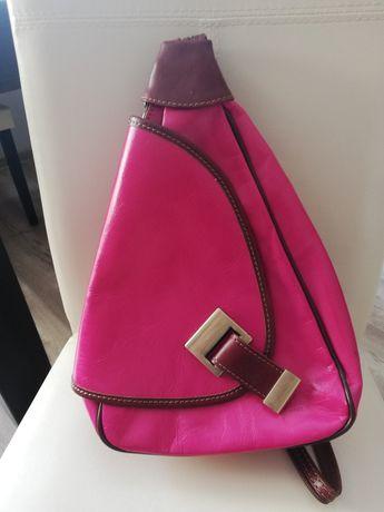 Skórzany włoski plecak damski