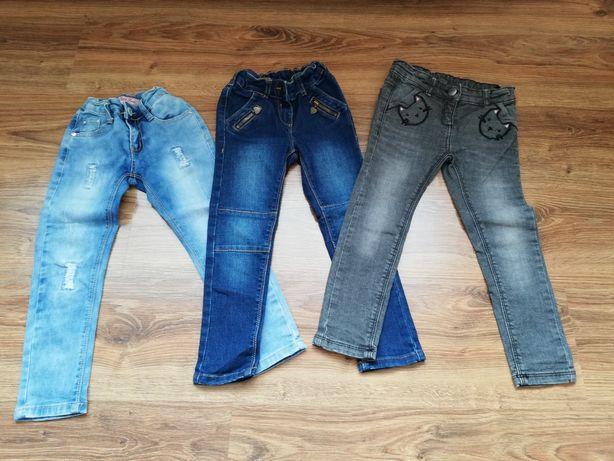 Paka spodnie i getry dla dziewczynki rozmiar 104