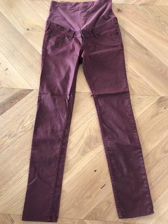 Spodnie ciążowe H&M mama Rozm 40 Bordowe