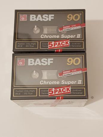 Kaseta magnetofonowa BASF Chrome Super II 90 5 sztuk x 2