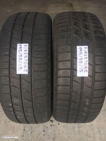 2 pneus semi novos firestone 195/55/15 - Oferta dos portes