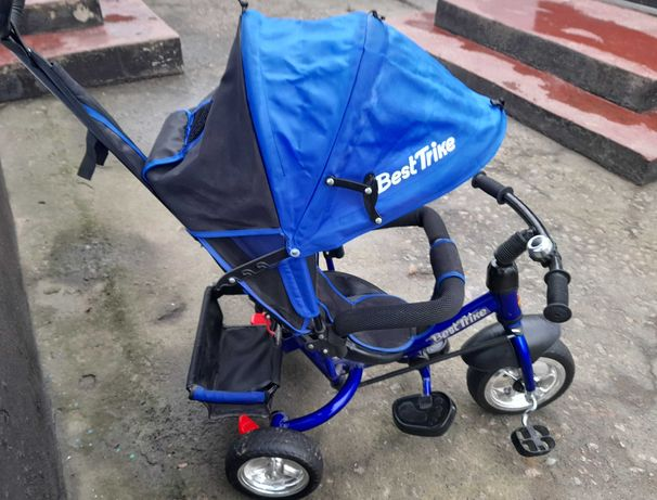 Детский велосипед-коляска