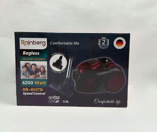 Пылесос на 4200W - Rainberg без мешка контейнерный. Новый