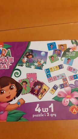 Gry + puzzle 4w1 Dora