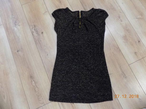 sukienka S/M czarno-złota