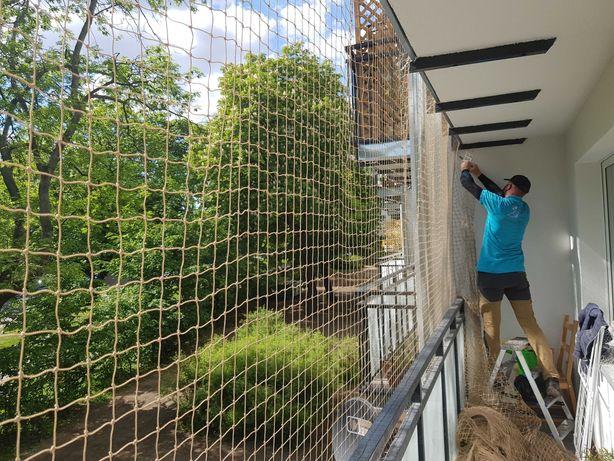 Siatka dla kota, siatka na balkon, zabezpieczenie przed ptakami