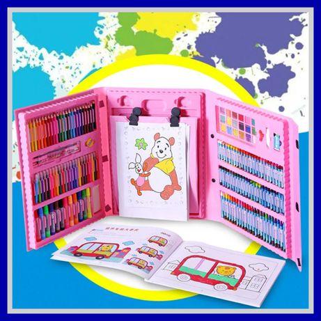 ХИТ! Детский набор творчества рисования из 208 предметов чемодан