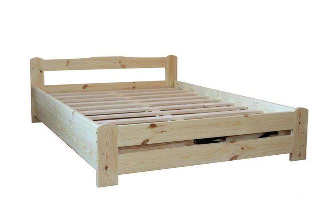 Łóżko otwierane z pojemnikiem na pościel oraz stelażem
