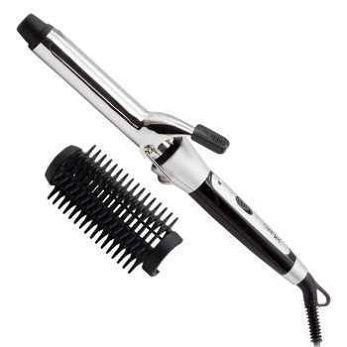 Плойка-расческа для завивки волос ProGemei-2907 с насадкой щетка браш