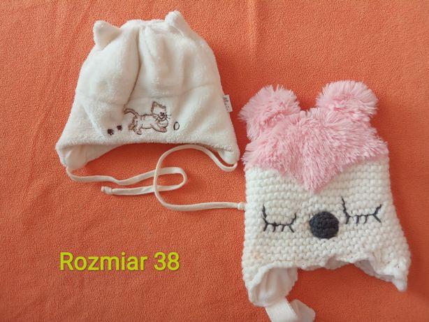 Czapki zimowe dziewczęce dla noworodka i przedziału 0-6 miesiąca