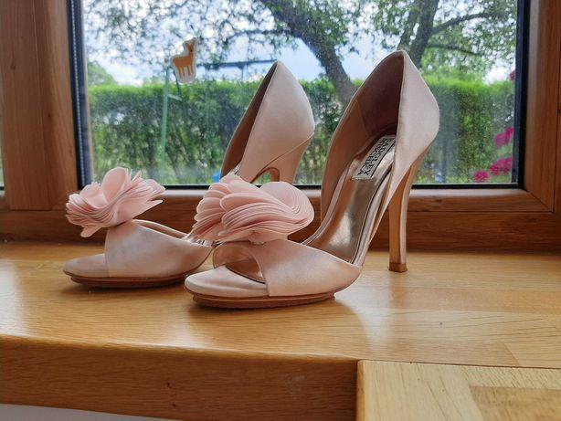 Badgley Mischka 36 buty ślubne pudrowy róż