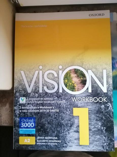 Sprzedam worbook z języka angielskiego. Vision 1, A2, Oxford
