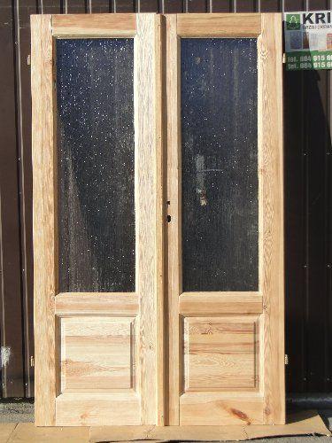 Drzwi drewniane szczotkowane postarzane lite sosnowe Grzybno - image 1