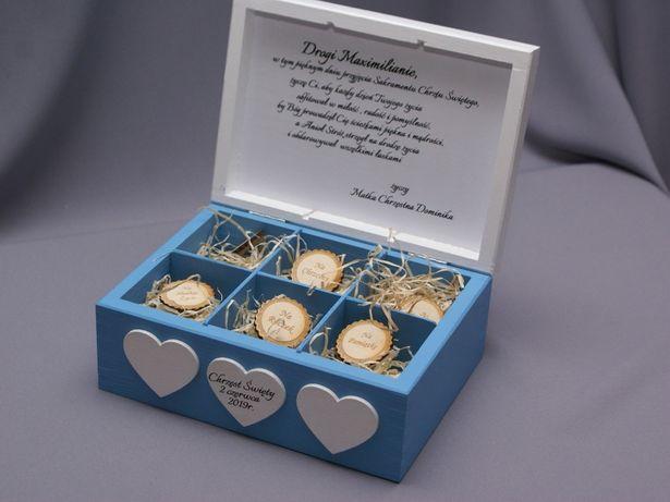 Pudełko na prezent dla dziecka chrzciny chrzest