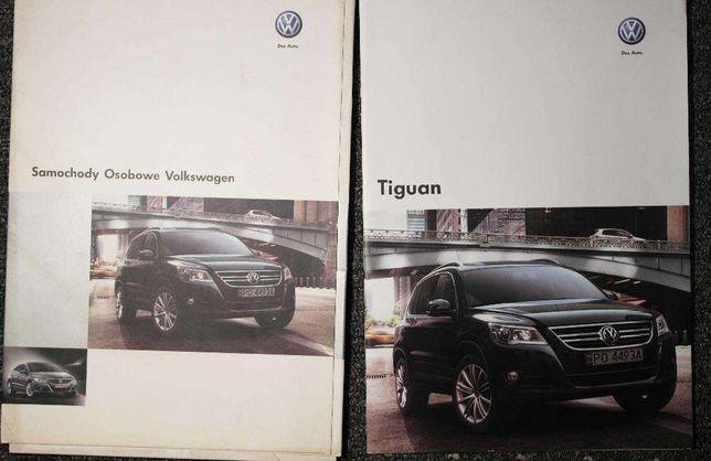 Oryginalne książki marketingowe / salonowe do Volkswagena Tiguana