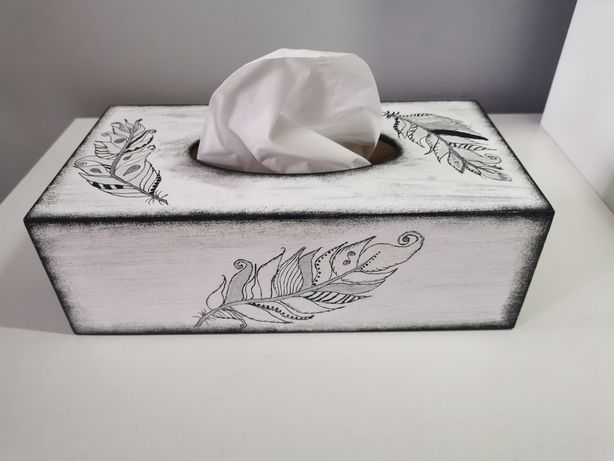 Chustecznik ręcznie malowany