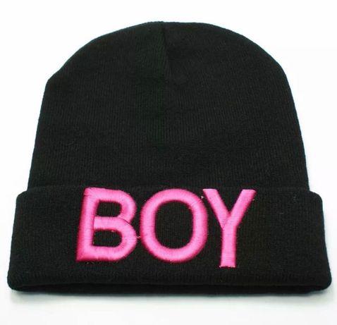 Стильная шапка-бини на мальчика BOY