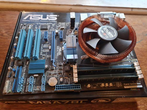 Asus M5A78L + процессор AMD Phenom II X4 + память Kingston + кулер