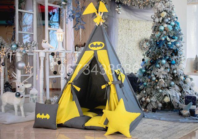 КОМПЛЕКТ! Палатка Вигвам «Бетмен» Серо-Желтый. В наличии! VIGVAM ELIT