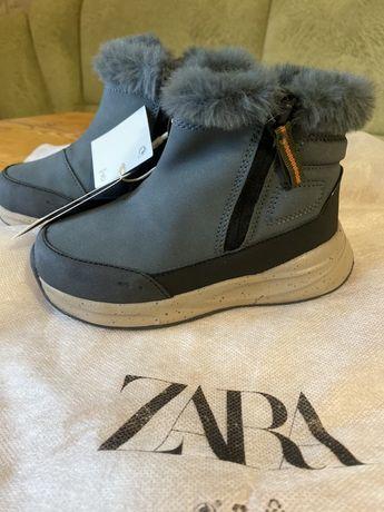 Зара Зимние ботинки 25 размер Zara