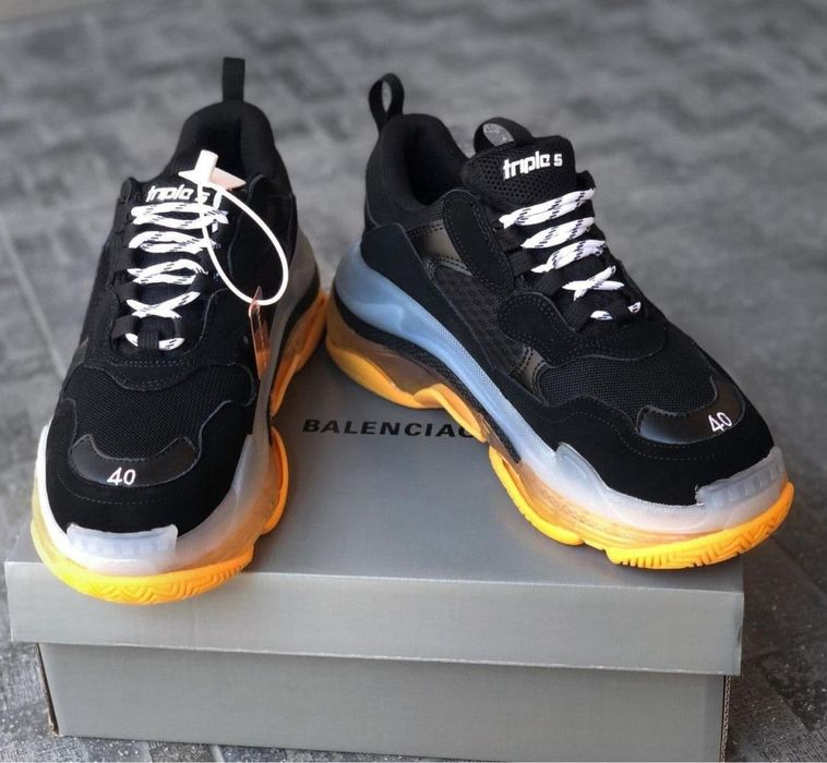 Balenciaga Triple S Clear Sole Black Orange Киев - изображение 1