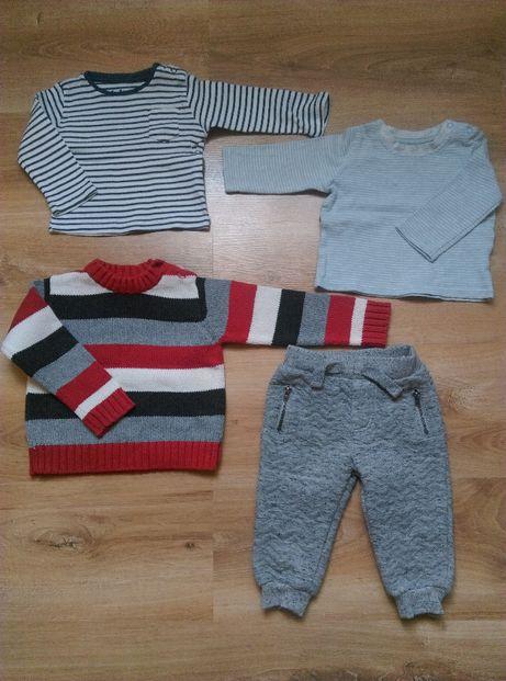 r. 74 bluzki, sweterek i spodnie
