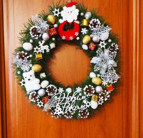 Новорічні та Різдвяні віночки