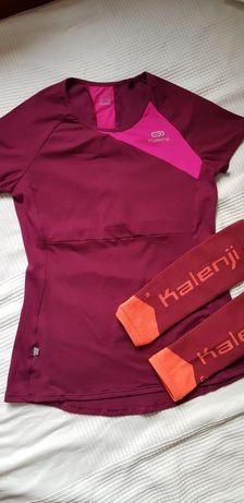 Kalenji koszulka +nogawki kompresyjne do biegania rozm. XS