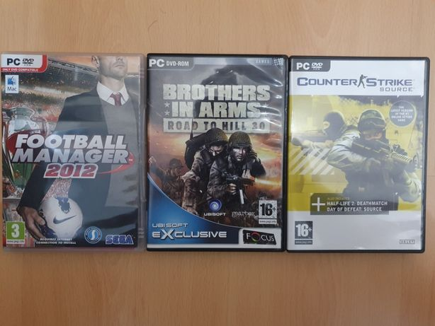 Jogos para PC - FM, Brothers In Arms, Counter Strike Source