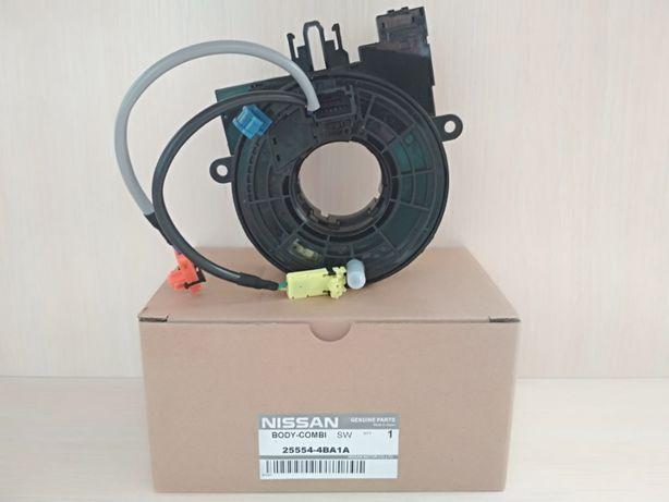 Шлейф руля, модуль подушки SRS Nissan ROGUE 14- 25554-4BA1A Ниссан.