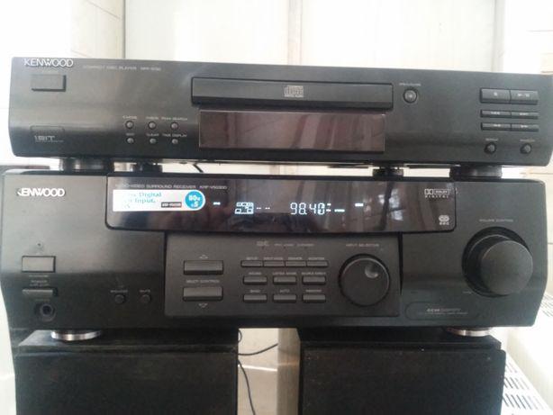Amplituner wzmacniacz KENWOOD+CD i głośniki