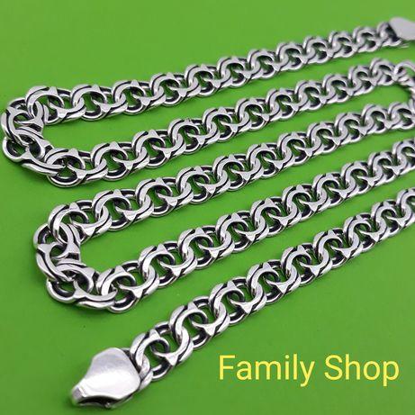 Серебряная цепочка бисмарк Серебро 925 пробы цепь на шею