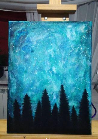Galaxy las, w stylu fantastycznym